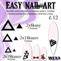 Easy Nail Art č. 12 - čierna