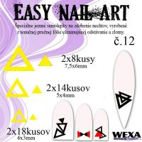 Easy Nail Art č. 12 - žltá