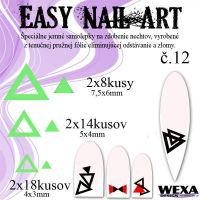Easy Nail Art č. 12 - bledozelená