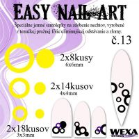 Easy Nail Art č. 13 - žltá