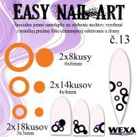 Easy Nail Art č. 13 - oranžová