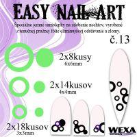 Easy Nail Art č. 13 - bledozelená