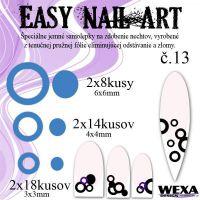 Easy Nail Art č. 13 - tmavomodrá