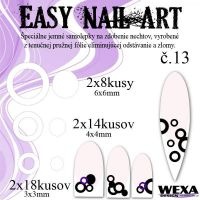 Easy Nail Art č. 13 - biela