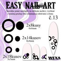 Easy Nail Art č. 13 - čierna