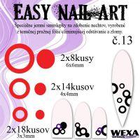 Easy Nail Art č. 13 - červená