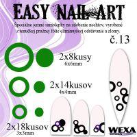 Easy Nail Art č. 13 - tmavozelená