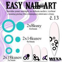 Easy Nail Art č. 13 - bledotyrkysová