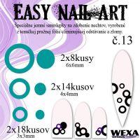 Easy Nail Art č. 13 - tmavotyrkysova
