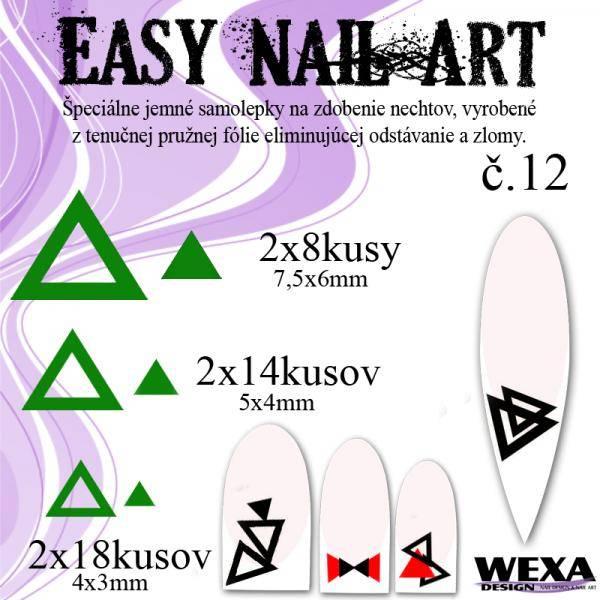Easy Nail Art č. 12 - tmavozelená