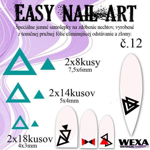 Easy Nail Art č. 12 - tmavotyrkysová