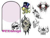 Nail Tattoos - Skull - 117