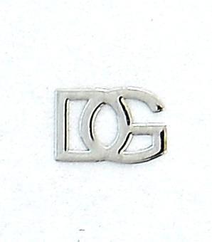 Kovové príklepky do nechtov D&G strieborné