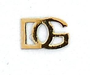 Kovové príklepky do nechtov D&G zlaté