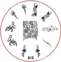 Stamping Nail Art platnička - A12