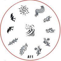 Stamping Nail Art platnička - A11