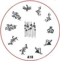 Stamping Nail Art platnička - A10
