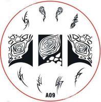 Stamping Nail Art platnička - A09