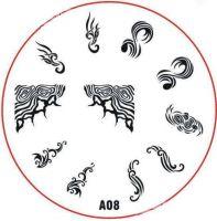Stamping Nail Art platnička - A08