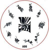 Stamping Nail Art platnička - A06