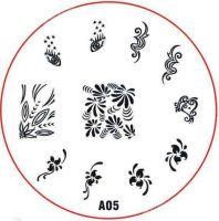 Stamping Nail Art platnička - A05