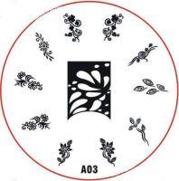 Stamping Nail Art platnička - A03