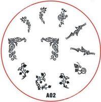 Stamping Nail Art platnička - A02