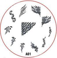 Stamping Nail Art platnička - A01