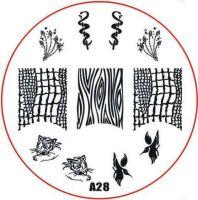 Stamping Nail Art platnička - A28