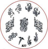 Stamping Nail Art platnička - A27