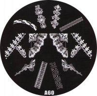 Stamping Nail Art platnička - A60