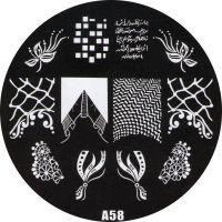 Stamping Nail Art platnička - A58