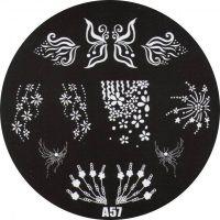 Stamping Nail Art platnička - A57