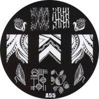 Stamping Nail Art platnička - A55