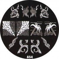 Stamping Nail Art platnička - A54