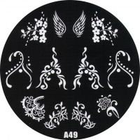Stamping Nail Art platnička - A49