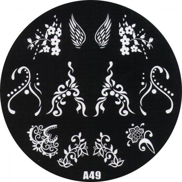 Platnička pre Stamping Nail Art A49