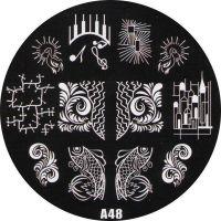 Stamping Nail Art platnička - A48