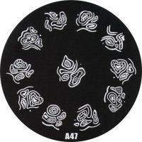 Stamping Nail Art platnička - A47
