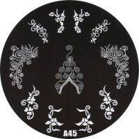 Stamping Nail Art platnička - A45