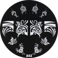 Stamping Nail Art platnička - A43