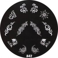 Stamping Nail Art platnička - A42