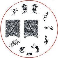 Stamping Nail Art platnička - A20