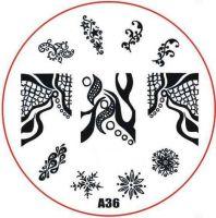 Stamping Nail Art platnička - A36
