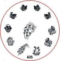 Stamping Nail Art platnička - A35 (veľká noc)