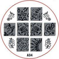 Stamping Nail Art platnička - A34