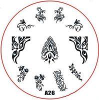 Stamping Nail Art platnička - A26