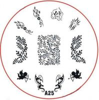 Stamping Nail Art platnička - A25