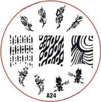 Stamping Nail Art platnička - A24