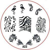 Stamping Nail Art platnička - A22